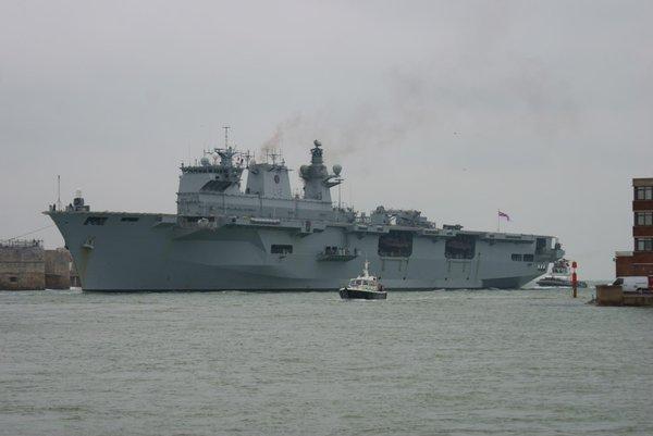 HMS Ocean in Portsmouth