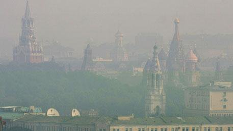 Heavy smog in Moscow again