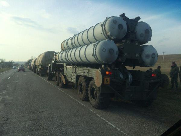 Russia has brought S-300 AA complex rockets to Crimea