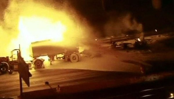 Tanker overturned On the ring road of Moscow
