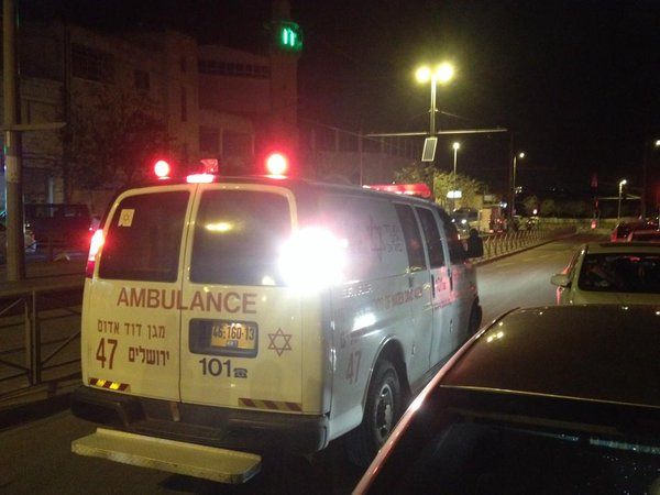 Ambulance in Shufat evacuated wounded attacked by Israeli grenade