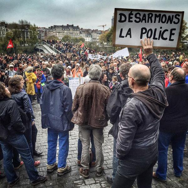 Cities in France against the construction of the Sivens dam & state repression Nantes RemiFraisse