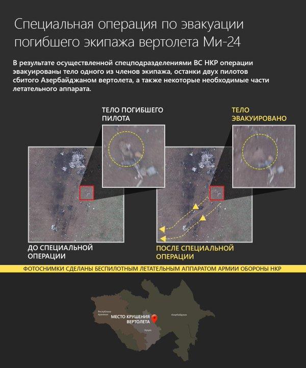 Armenia evacuates crew bodies from Mi-24 crash site