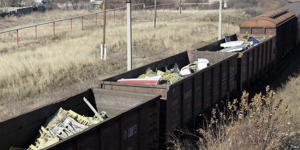 Wreckage from MH17 being transported by train to Netherlands leaves rebel-held east Ukraine