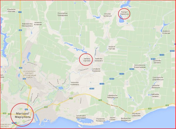 Ukraine AA guns fired at Russia drones over Mariupol.Drones reported Sartana & Pavlopolya.