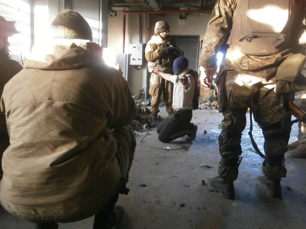 Russian militant voluntarily surrendered to the defenders of the Donetsk airport