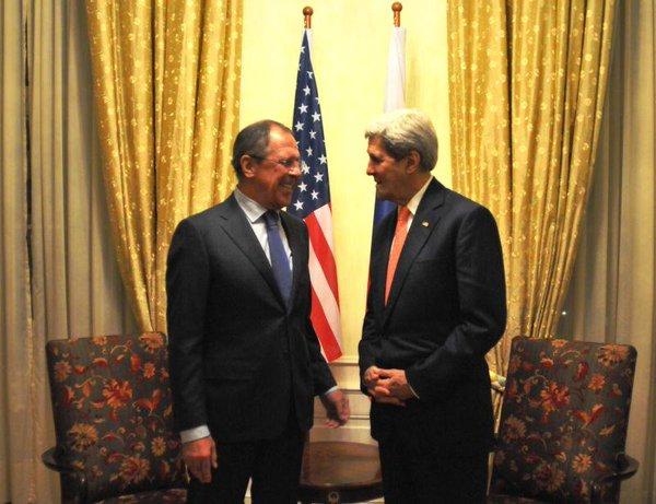 Sergey Lavrov met with US Secretary of State @JohnKerry /Meeting S. Lavrov, Secretary of state George W. Bush. Kerry