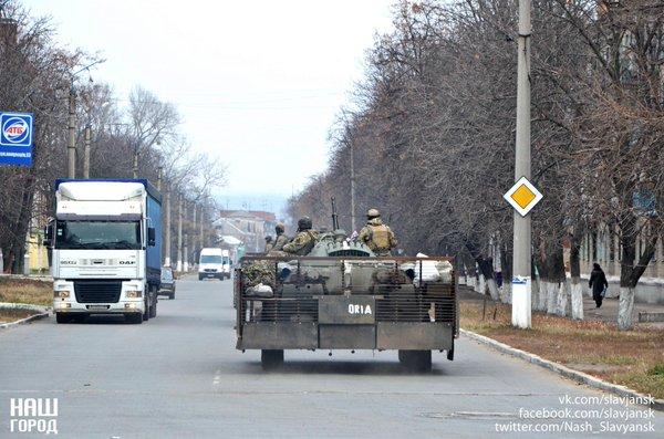 Ukrainian APC in Slavyansk