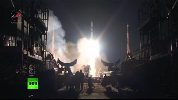 New 3-person crew launches to the International Space Station - @NASA