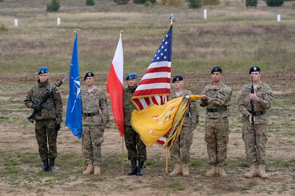 The United States will keep troops in Poland & the Baltic states for at least the next year