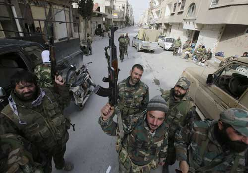 Activists: Tensions between Hezbollah and NDF fighters in Yabrud town in W-Qalamoun region of Syria