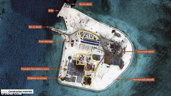 China is building a huge military airfield in the South China sea