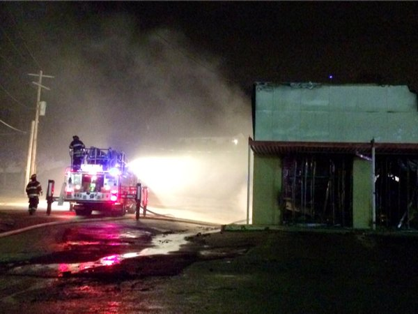 Firefighters still working to put out fire at Family Dollar on New Halls Ferry in Ferguson