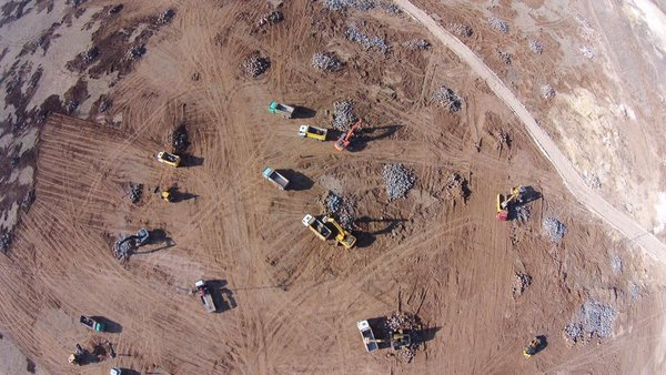 Turkey's state emergency organisation, AFAD, is constructing a camp for Kobane displaced people in Suruc in Turkey.