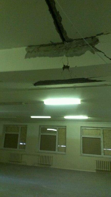 Shells hit school №117 in Donetsk