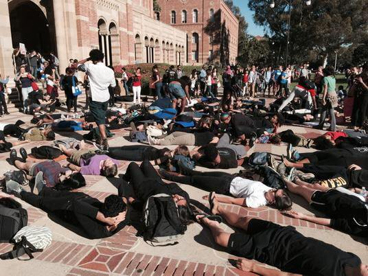 Protest at University of California Los Angeles against Ferguson, grand jury decision - @jeffnguyen