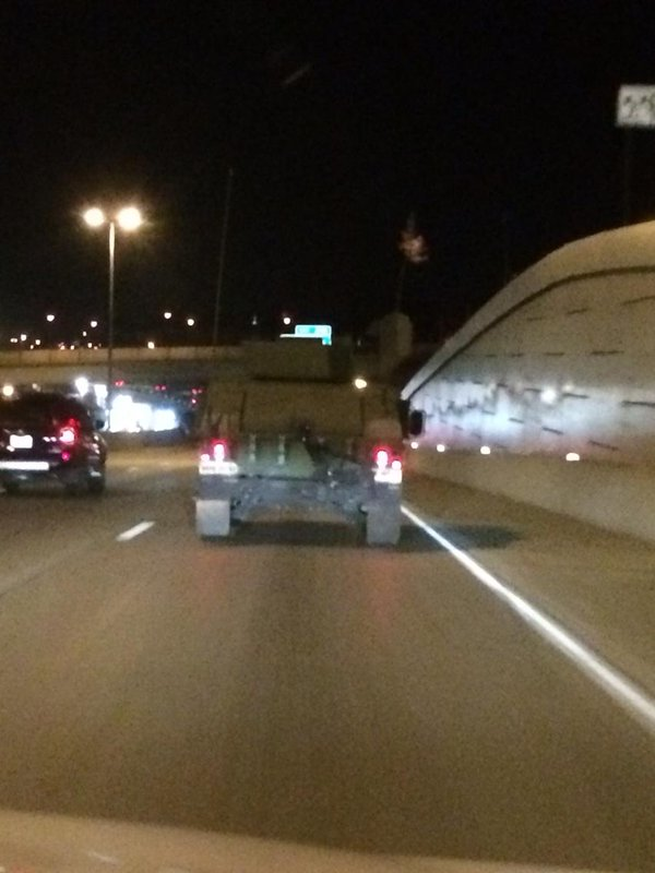 National Guard on the move. Headed west on HWY 40. Ferguson