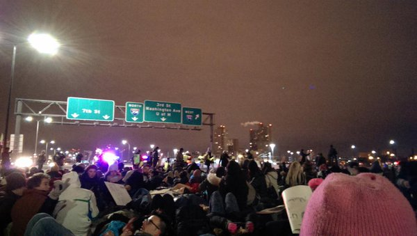 Protest in Minneapolis right now; Ferguson
