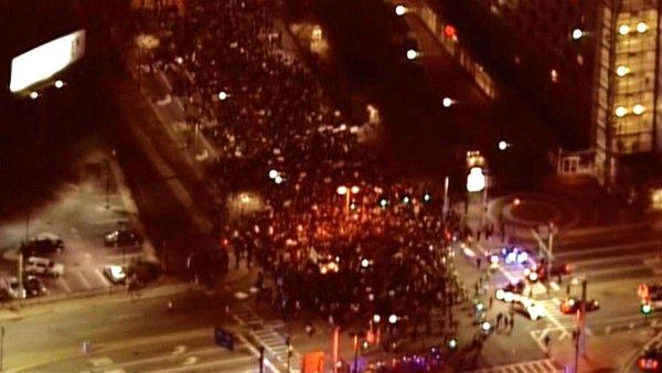 Protesters take the streets of Boston: Ferguson