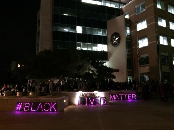 Outside Dallas Police Department