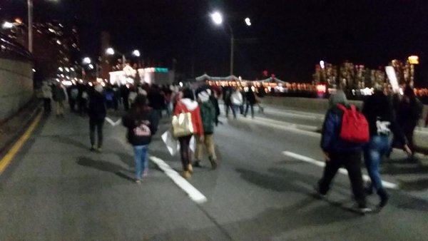 Ferguson NYC on FDR. Protesters tell this is just the beginning.
