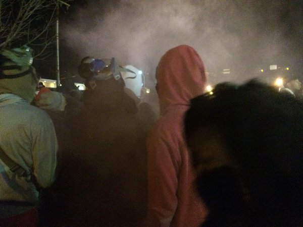 Some sort of smoke device was used, unclear who set it off Ferguson