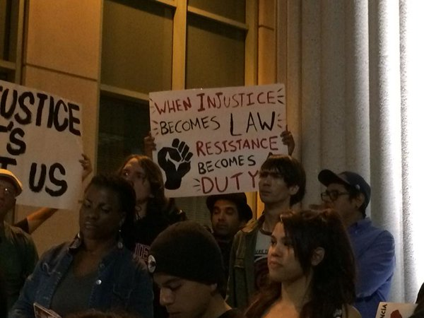 Rally in support of Ferguson in SanDiego
