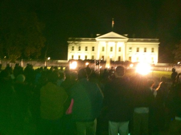 Protesters gather in front of the White House, opposing the NoIndictment decision. Ferguson