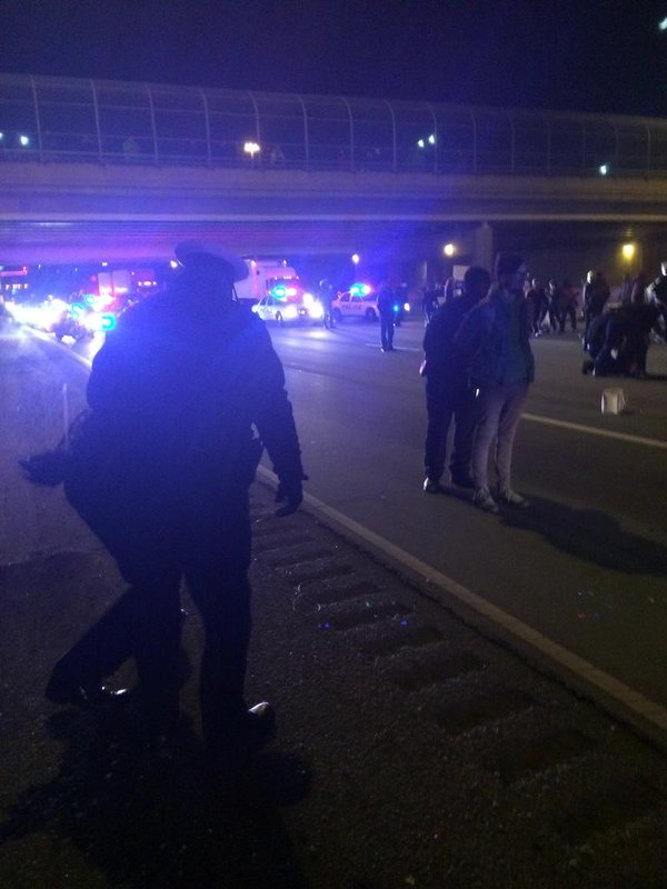 I-75 In Cincinnati shutdown Due To Ferguson Protestors