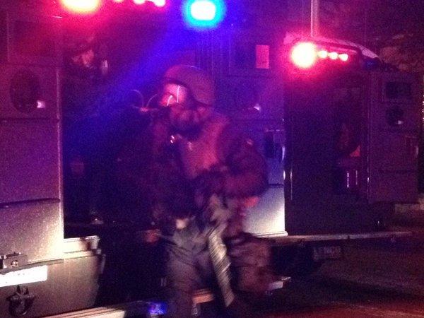 SWAT teams called out in Ferguson.