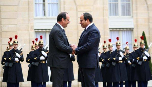 Egypt's President Fog, and French President Francois hollande