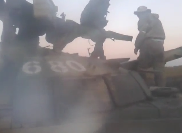 Putin's militants capture Ukrainian army convoy,including T-64BM Bulat and 2  trucks