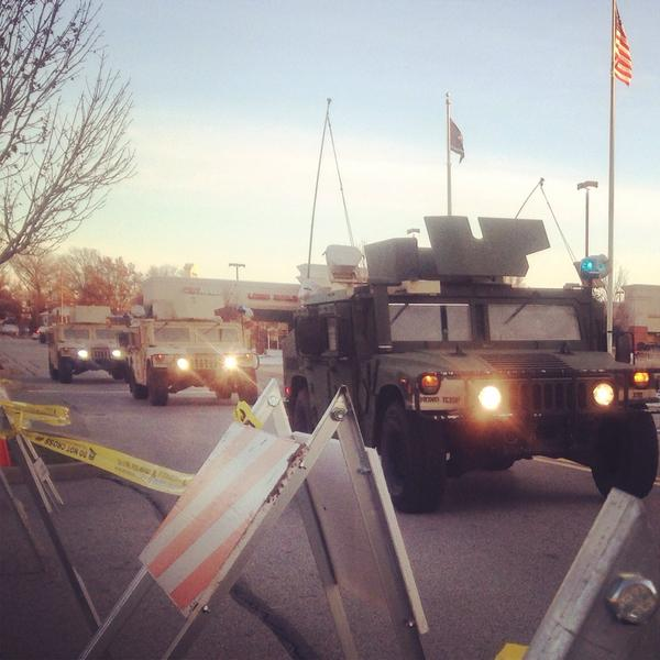 National Guard out in Ferguson