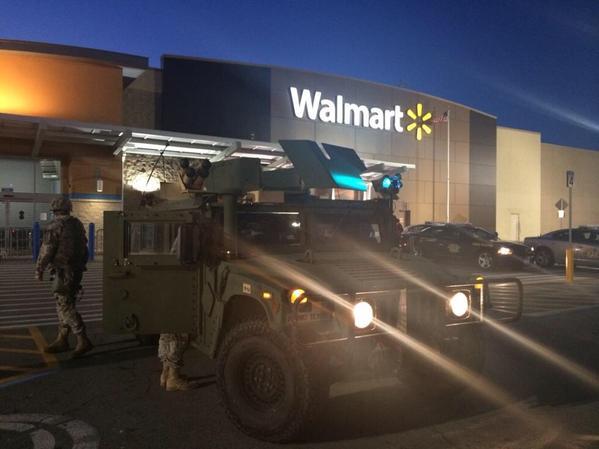 National Guard at Walmart in Ferguson