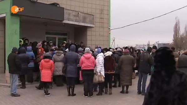 Donetsk. People came to militants for social benefits. There is no money.