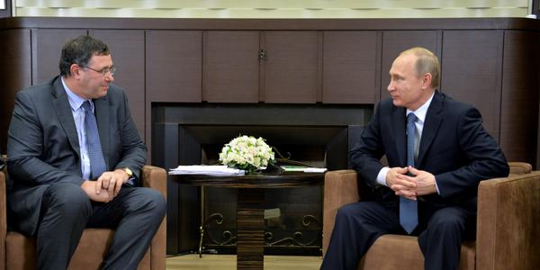 Putin met with CEO of Total Patrick Pouyanne