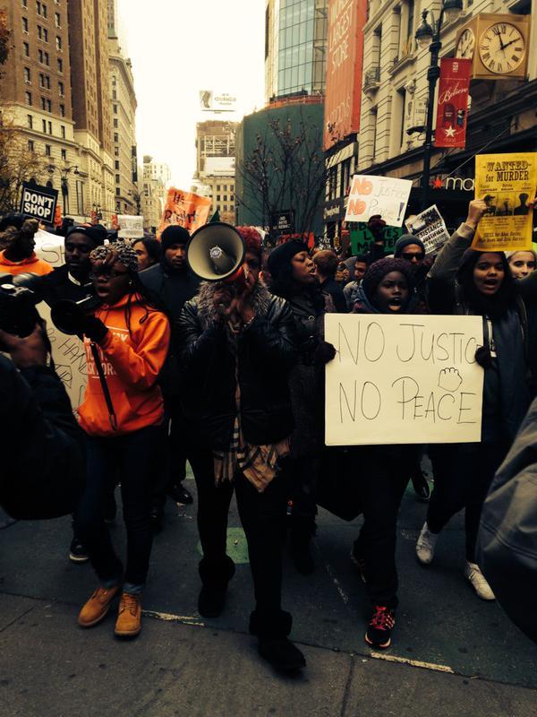ShutItDownNYC marching to Times Square