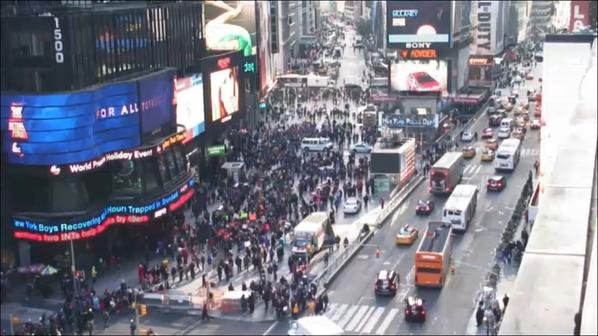 NYPD reports group of peaceful Ferguson protestors heading for Time Square. BlackoutBlackFriday