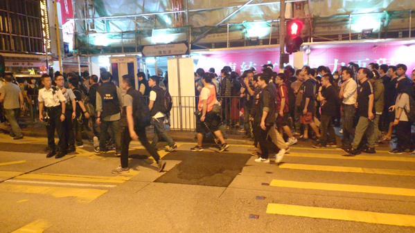 Protestors moving in unpredictable directions occupymk occupyhk