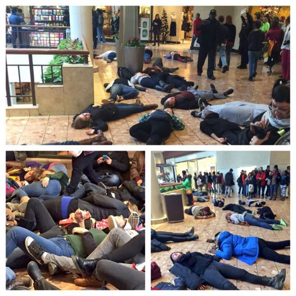 Ferguson Galleria forced to close doors after protestors stage a die in protest