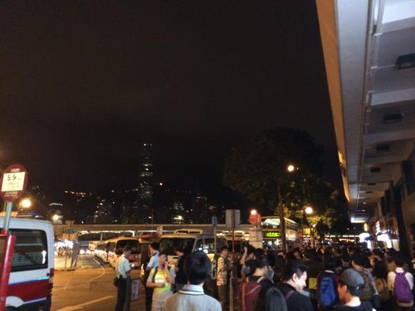 4:45am Hongkong crowd arrived at TST seafront