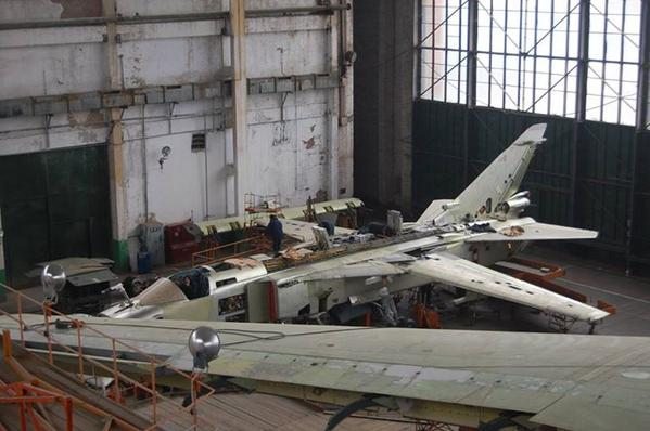 Jets are being repared at Mykolaiv plant