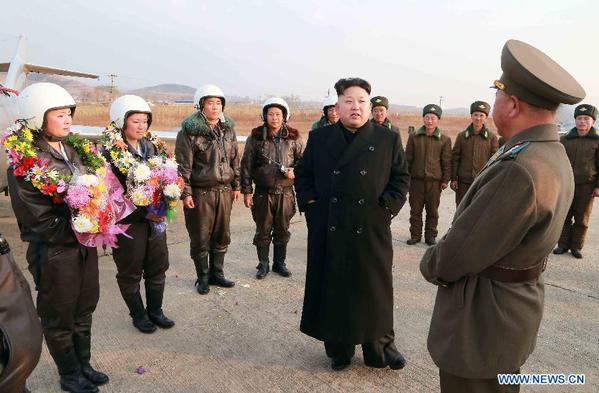 DPRK top leader instructs flight drill of KPA
