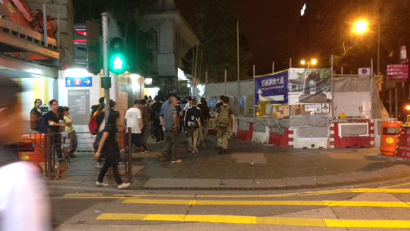 Now back to mosque and walking through Nathan Road northwards again OccupyHK