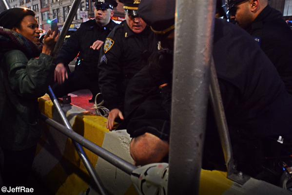 Police attack BlackoutBlackFriday march slamming protesters head on concrete