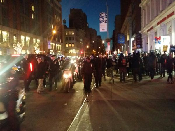 Marching down 23rd st