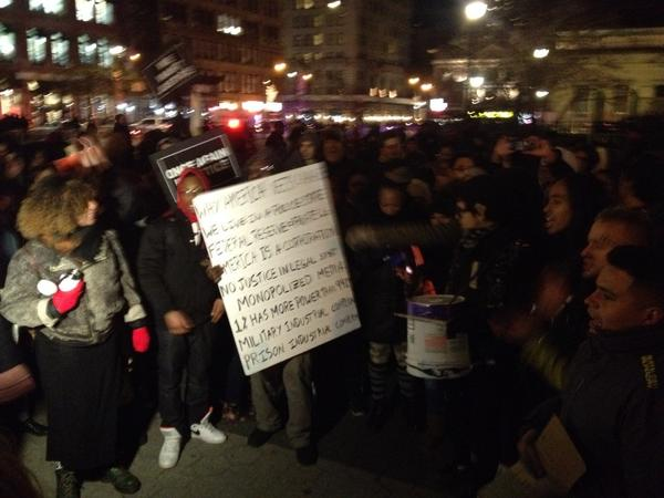 Blackoutblackfriday is in Union Square NYC