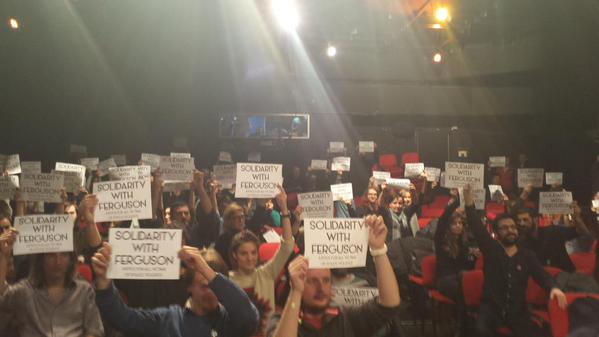 Solidarity with Ferguson from Sarajevo tonight.