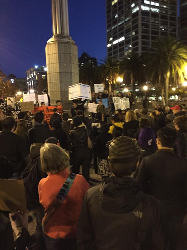 At San Francisco BlackoutBlackFriday protest