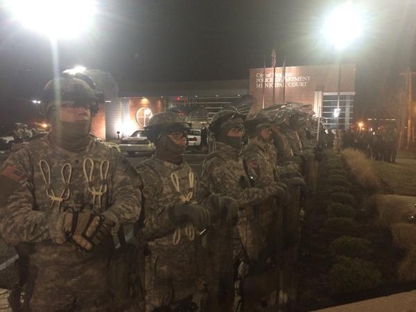 Friday night in Ferguson